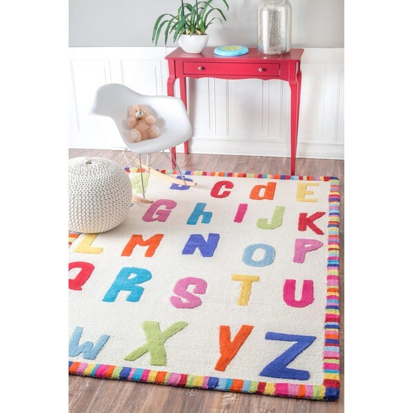 Shop NuLOOM Hand-carved Kids Alphabet Multi Wool Rug (3'6