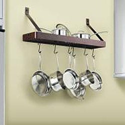 Cuisinart Chef's Classic Oil Rubbed Bronze 36-in Rectangular Wallmount Pot Rack - Thumbnail 1