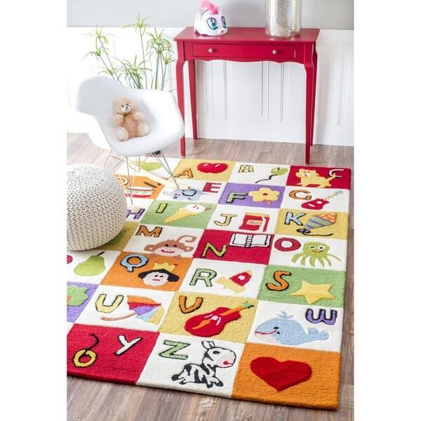Shop NuLOOM Hand-carved Kids Alphabet Multi Wool Rug