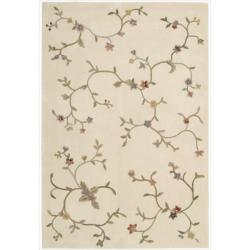 Nourison Hand-tufted Ivory Spring Hill Rug (7'9 x 9'9)