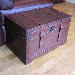 Georgetown Medium Faux Leather Wooden Chest