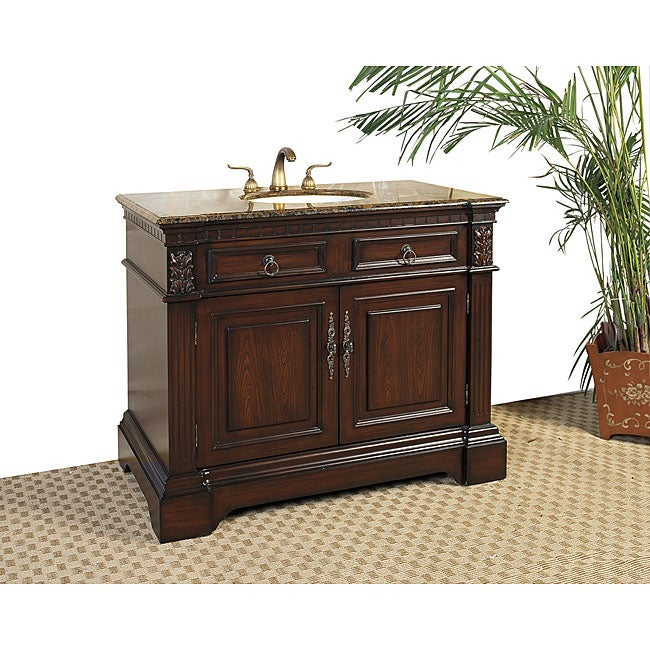 Shop Granite Top 42 Inch Single Sink Vanity Free Shipping Today Overstock 5973813