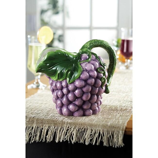 American Atelier Fresh Fruit Grapes Pitcher