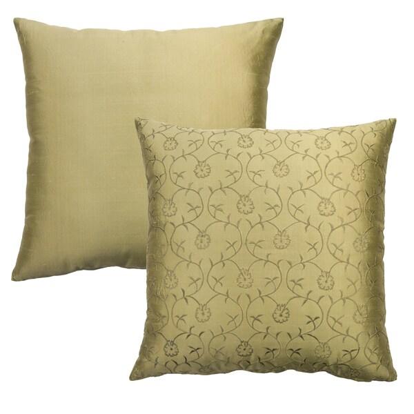 Rose Tree Crimson Garden Embroidered Decorative Pillows (Set of 2)