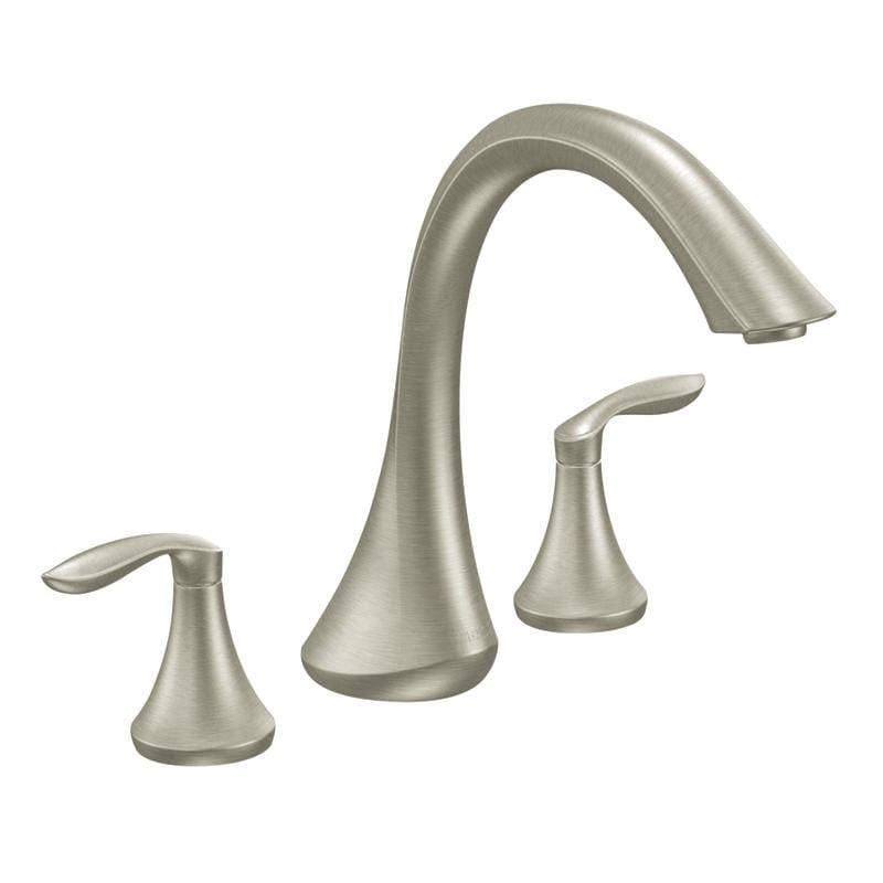 Moen Brushed Nickel Double-handle High Arc Roman Tub Faucet