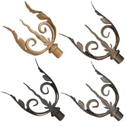 Casa Artistica by Menagerie Side Leaf Finials (Set of 2)