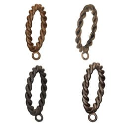 Casa Artistica by Menagerie Braided Rings (Set of 8)