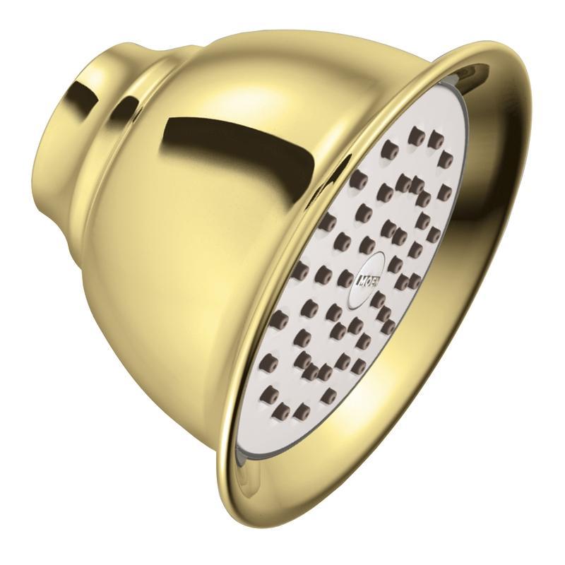 Moen Polished Brass One-Function Standard Showerhead