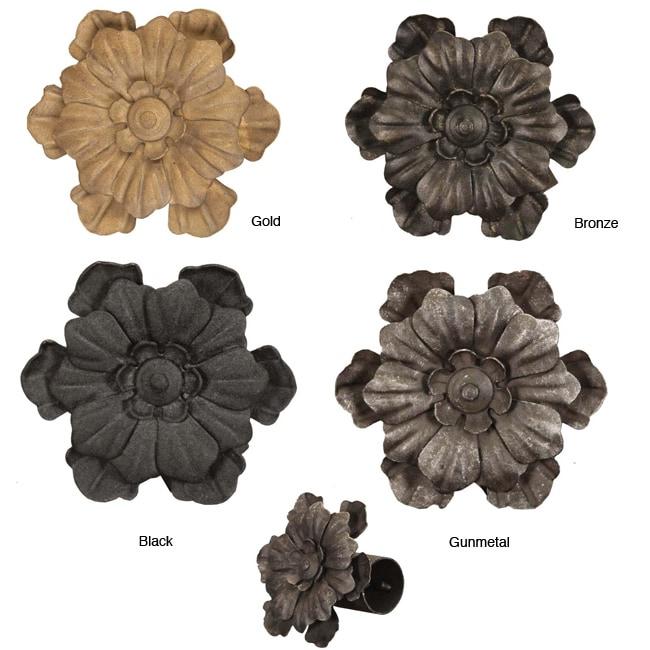 Casa Artistica by Menagerie Flower Finials (Set of 2)