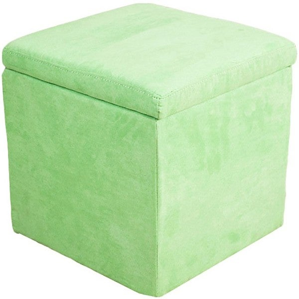 Green Microfiber Storage Ottoman - Green Microfiber Storage Ottoman - Free Shipping On Orders Over