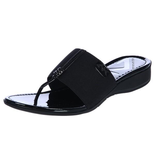 Ak Anne Klein Women S Koppa Thong Sport Sandal Free