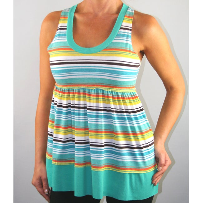 Institute Liberal Women's Striped Empire-waist Tank Top - Thumbnail 0