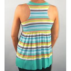 Institute Liberal Women's Striped Empire-waist Tank Top - Thumbnail 1