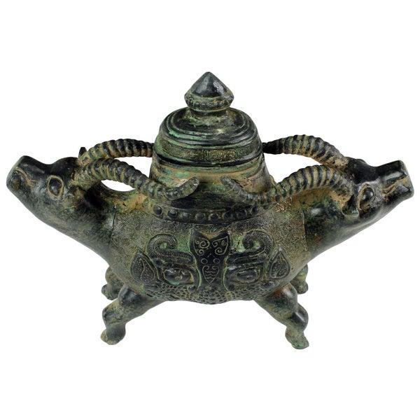 Chinese Ceremonial Bronze Urn