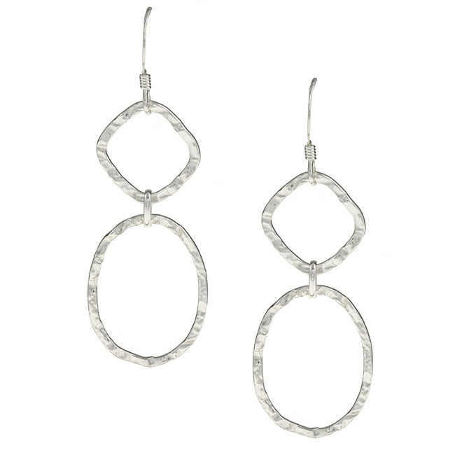 La Preciosa Sterling Silver Hammered Dangle Earrings