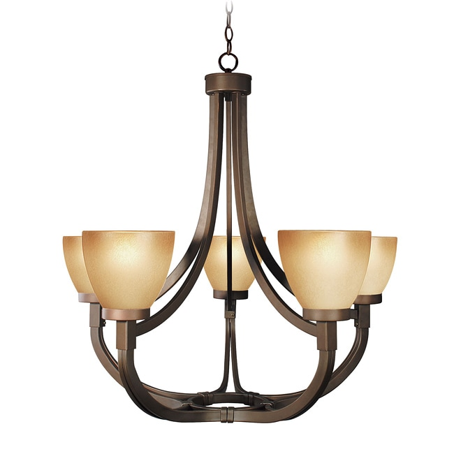 Woodbridge Lighting Wayman 5-light Bronze Chandelier