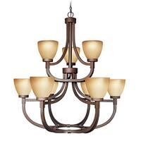 Woodbridge Lighting Wayman 9-light Bronze Chandelier