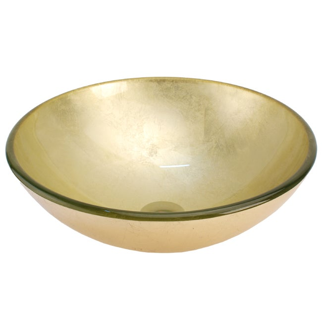 Fontaine Yellow Gold Glass Vessel Bathroom Sink