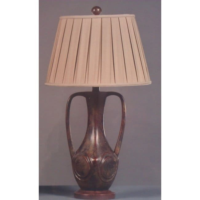 Nature's Dance 1-light Green and Earth Brown Table Lamp