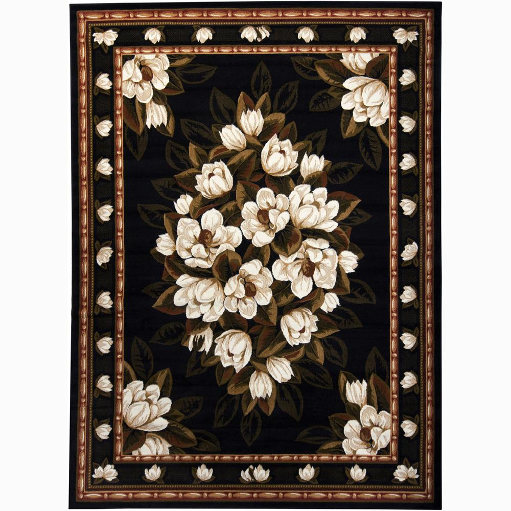 Artist's Loom Indoor Transitional Floral Rug - 5'3 x 7'2