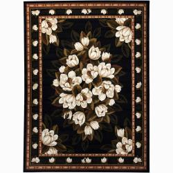 Artist's Loom Indoor Transitional Floral Rug - 5'3 x 7'2 - Thumbnail 0