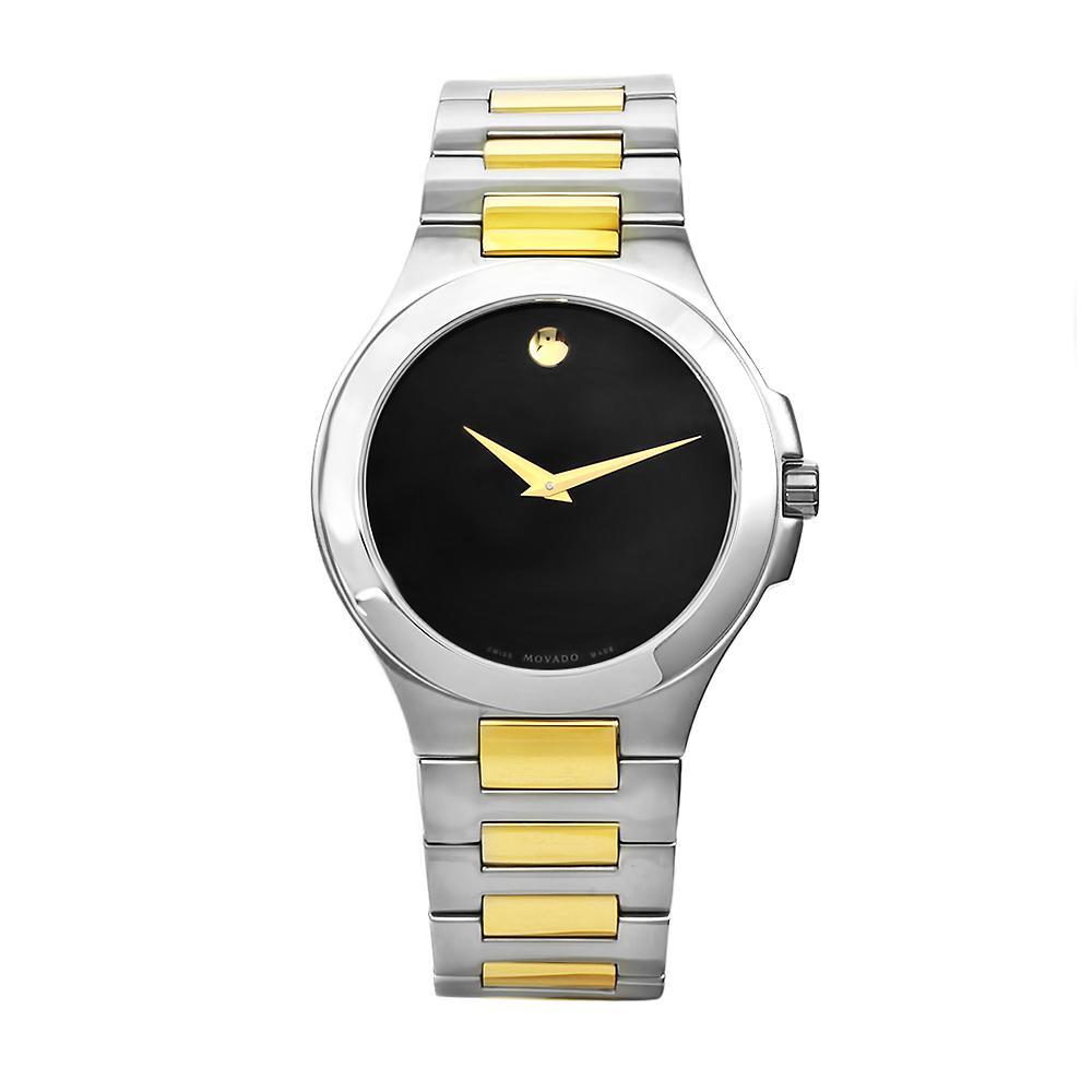 Movado Men's Museum Stainless Steel Two-tone Bracelet Black Dial Watch