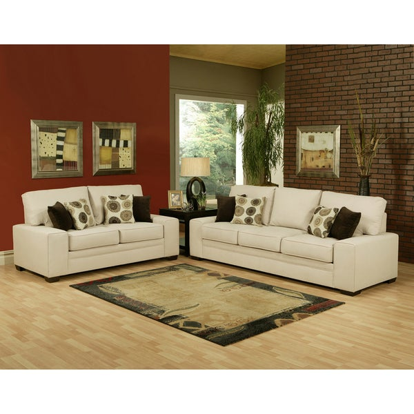 Furniture of America Galen 2-piece Sofa and Loveseat Set