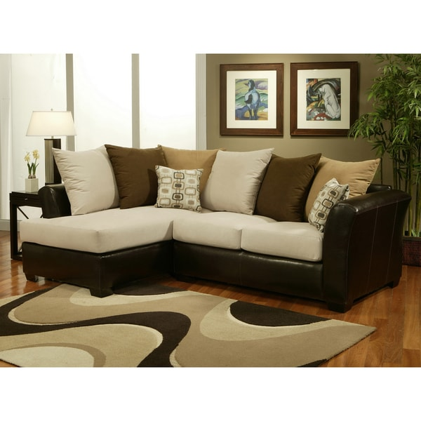 Furniture of America Truman 2-piece Sectional Sofa Set
