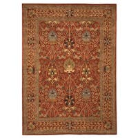 Hand-tufted Wool Rust Traditional Oriental Morris Rug (4' x 6') - 4' x 6'
