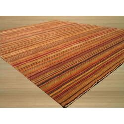 EORC Handmade Wool Multi Lori Toni Rug (8' x 11')