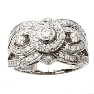 Beverly Hills Charm 14k White Gold 7/8ct TDW 3-stone Diamond Ring (H-I, SI2-I1)