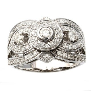 Beverly Hills Charm 14k White Gold 7/8ct TDW 3-stone Diamond Ring