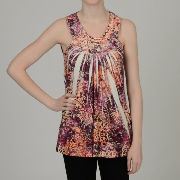 Simply Irresistible Women's Floral Crochet Back Top
