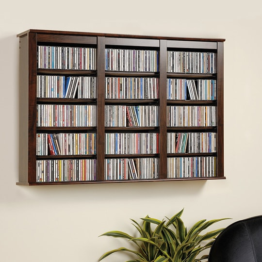 Everett Espresso Wall Hanging Media Storage Cabinet Free Shipping Today 5978105