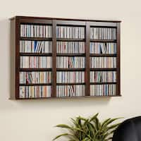 Everett Espresso Wall -hanging Media Storage Cabinet
