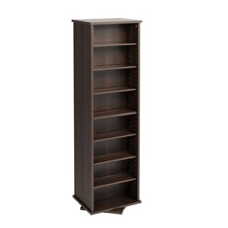 Prepac Everett Espresso 2 Sided Spinner Media Storage Cabinet