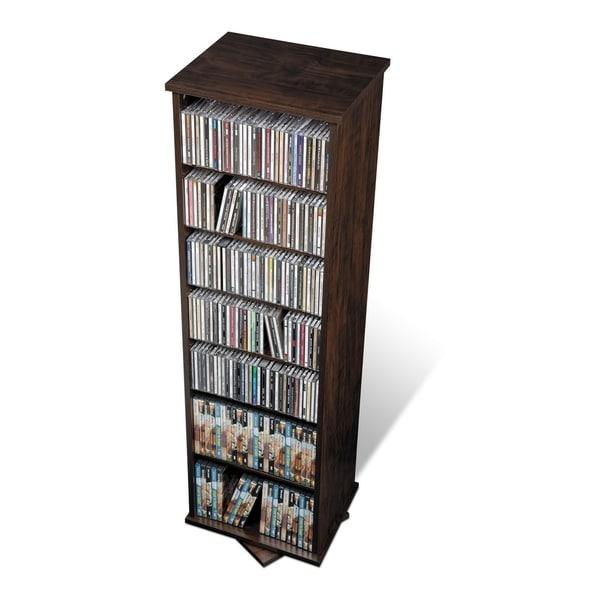 Prepac Everett Espresso 2-sided Spinner Media Storage Cabinet