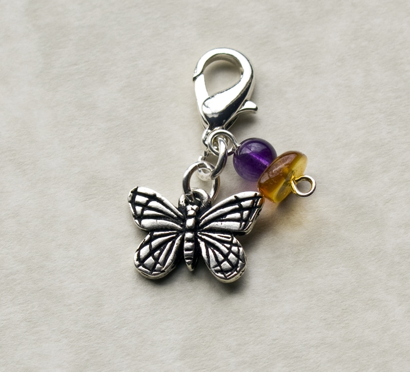 Fashion Forward Pewter Monarch Butterfly Charm - Thumbnail 0