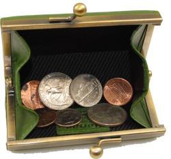 Castello 'Torino' Leather Coin Purse - Thumbnail 1