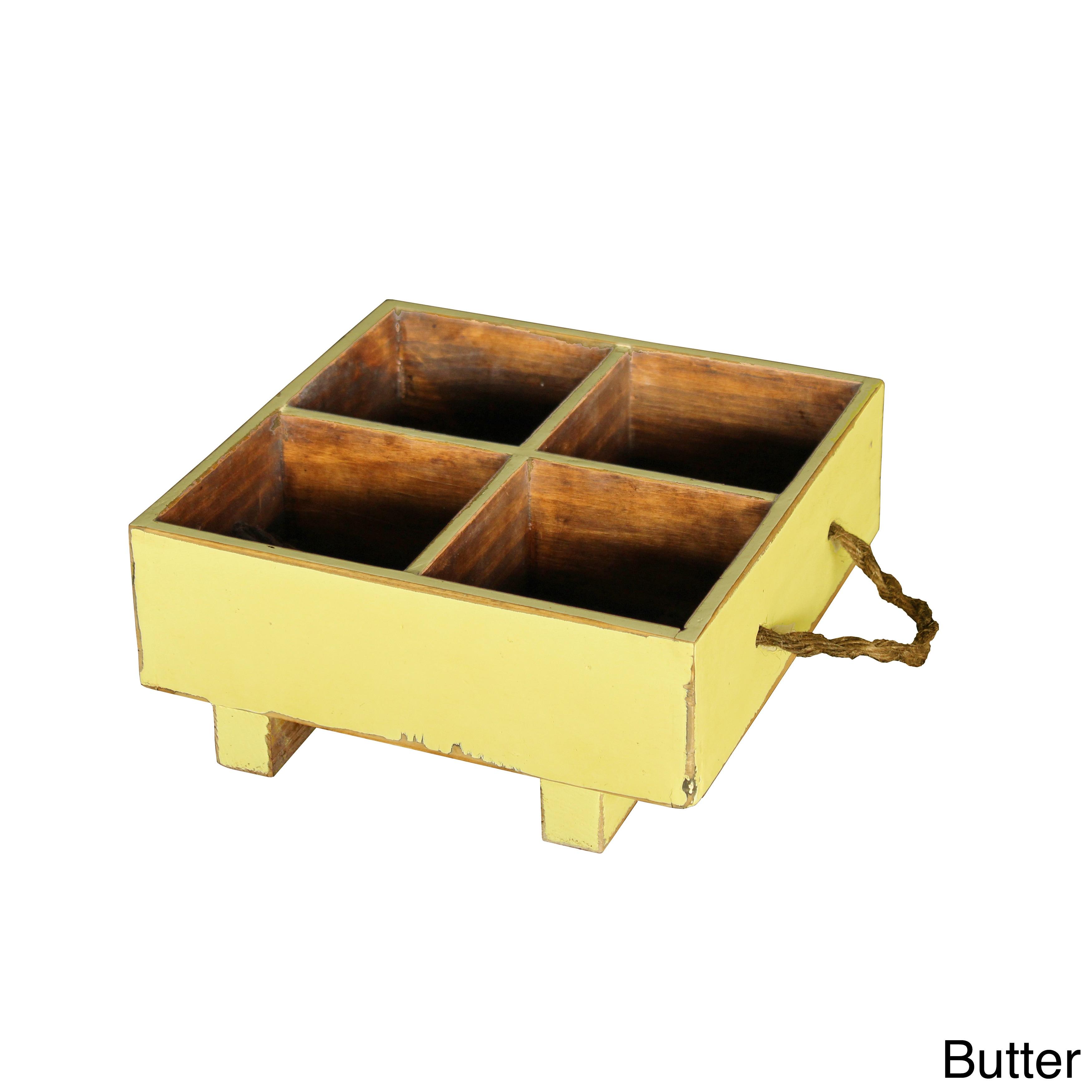 Antique Revival Vintage European-style Milk Crate (Yellow...