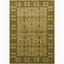 Artist's Loom Hand-tufted Traditional Oriental Wool Rug (7'9x10'6) - 7'9 x 10'6 - Thumbnail 0