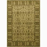 Artist's Loom Hand-tufted Traditional Oriental Wool Rug (7'9x10'6) - 7'9 x 10'6