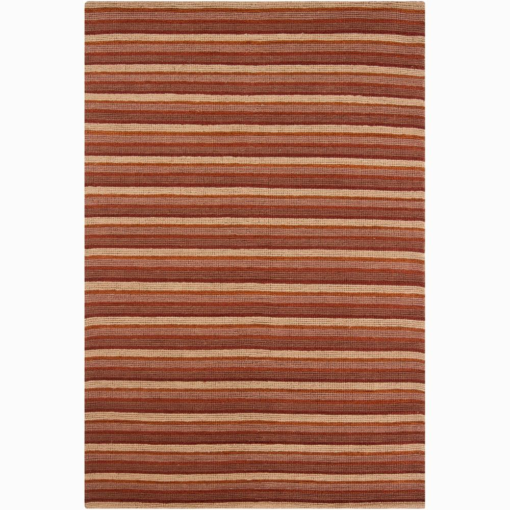 Artist's Loom Hand-woven Contemporary Stripes Rug (7'9 x 10'6) - 7'9 x 10'6