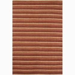 Artist's Loom Hand-woven Contemporary Stripes Rug - 5' x 7'6 - Thumbnail 0