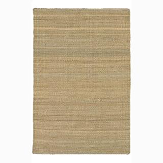 Artist's Loom Hand-woven Casual Reversible Natural Eco-friendly Jute Rug (5'x7'6)