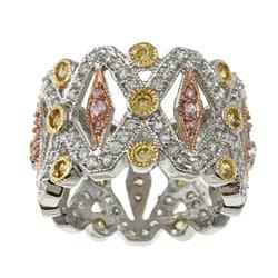 La Preciosa Sterling Silver Cubic Zirconia Filigree Ring