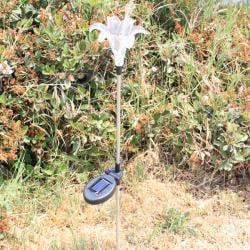 Solar Lily Flower Color Change Light Garden Stakes (Pack of 2)