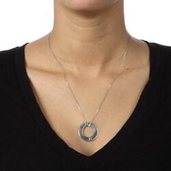 La Preciosa Sterling Silver Open Circle 'Passion' Necklace