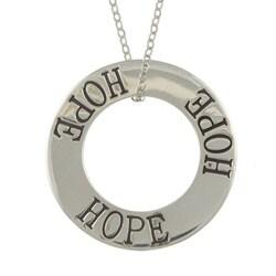 La Preciosa Sterling Silver Circle 'Hope' Necklace