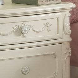 TRIBECCA HOME Fairytale Victorian Princess White End Table (Set of 2)